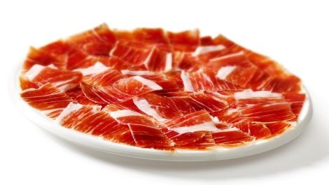 Spanish Serrano ham, look the color and texture it´s special on